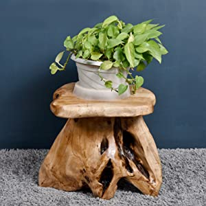 Amazon Com Welland Tree Stump Stool Live Edge Natural