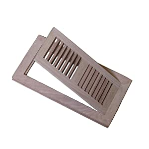 4x10 Red Oak Flush Mount Floor Register Vent Unfinished By