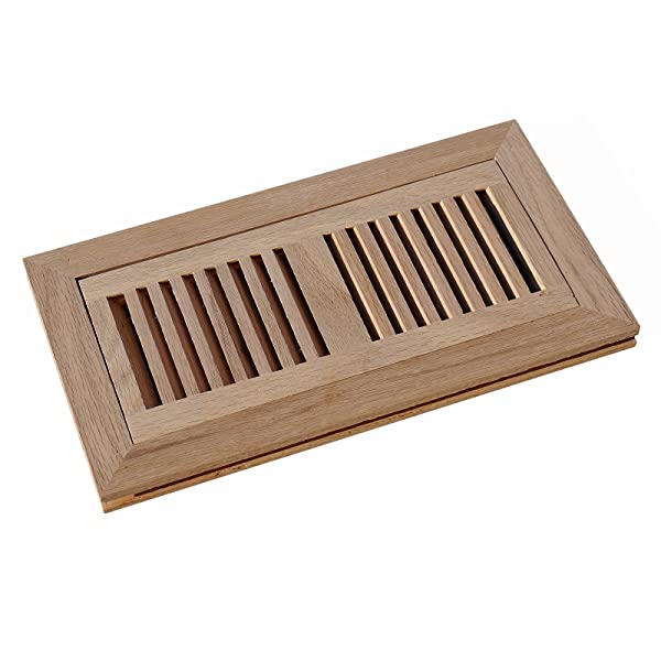 It is designed to lay flat with the surface of the wood flooring, provides  two way diffusion and is the preferred style for sand and finish hardwood  floors ... - WELLAND 4 Inch X 10 Inch Red Oak Hardwood Vent Floor Register