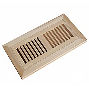Welland 4x10 Inch Hickory Wood Flush Mount Floor Register