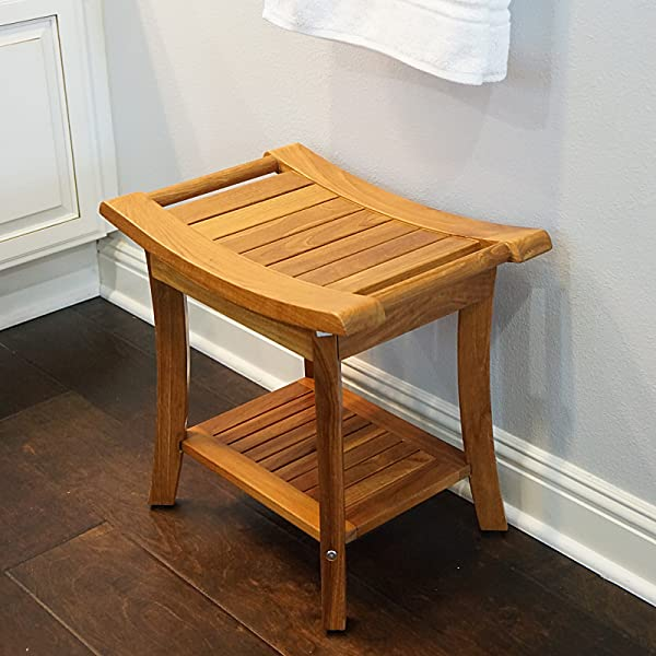 Our Teak Shower Bench Is 100% Tropical Teak Wood Imported From Indonesia.  With Its Natural Density And High Oil Content, This Bench Is Naturally  Water And ...