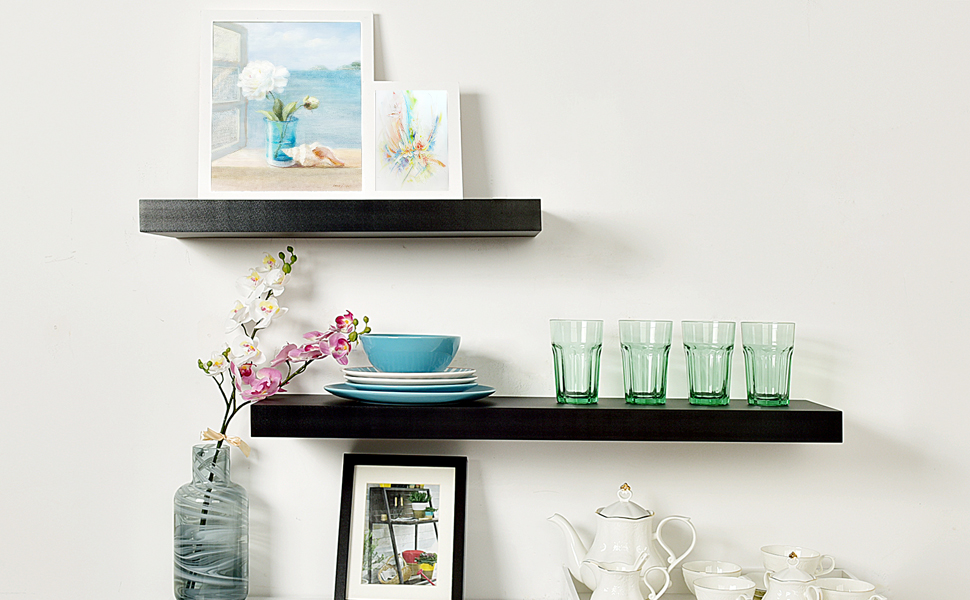 Amazon WELLAND 40 Thickness Mission Floating Wall Shelf Approx Unique Thick Floating Wall Shelves