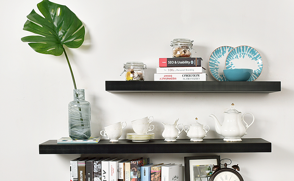 This shelf is available in various lengths and colors including solid hardware that hides to give the shelf floating appearance. It is ideal for displaying ...