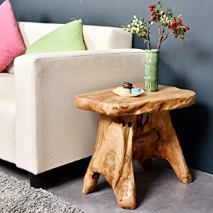 This stool can be used outside or inside as an extra seat foot rest small table plant stand cocktail table and anything else you can think of & Amazon.com: WELLAND Natural Wood Indoor/Outdoor Stool Cedar Garden ... islam-shia.org