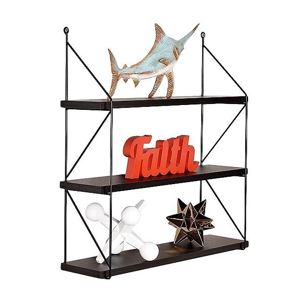 amazon com welland 3 tier display wall shelf storage rack wall rack rh amazon com 3 tier wall shelf wood hdc 3 tier wall shelf