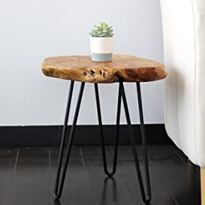 """Side Table 20/"""" Artistic Hairpin Leg Night Stand NEW WELLAND"""