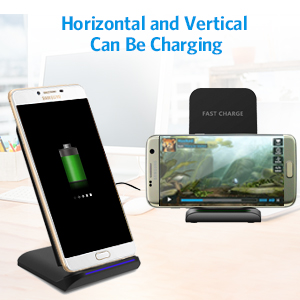 Criacr Wireless Charger, 10W Qi Certified Wireless Charging Pad, Compatible iPhone X, Xs Max XS XR X 8 8 Plus,Samsung Galaxy S8 S8 Note 9, Android ...