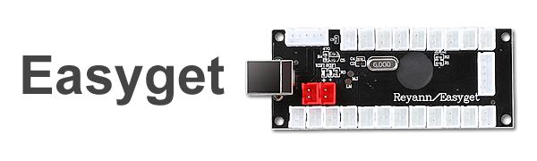 Zero Delay Arcade Game Player USB Joystick for PC /&Raspberry Pi 1//2//3 Black