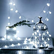 Amazon Com Wertioo Battery Operated String Lights 33ft 100 Leds Globe Christmas Lights With Remote Control For Outdoor Indoor Bedroom Garden Christmas Tree 8 Modes Timer White Garden Outdoor