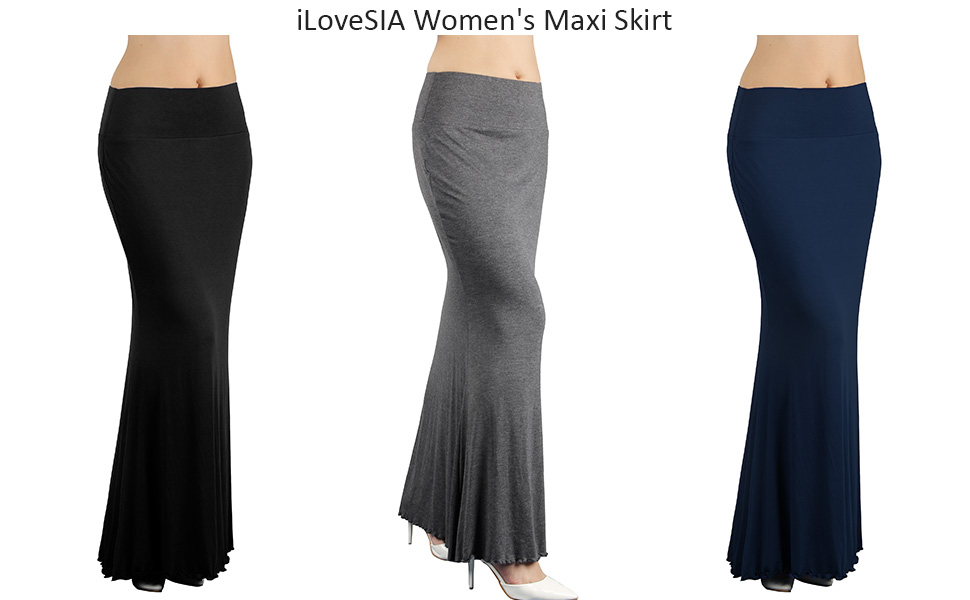iLoveSIA Women's High Waist Comfortable Carlo Maxi Skirt main photo
