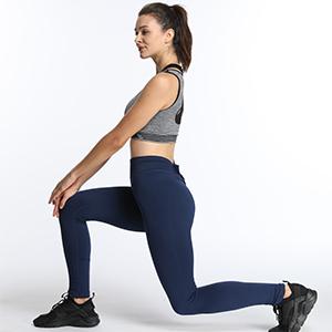 Women's Daily Leisure Leggings 4-way strecth High-waist pants small logo three