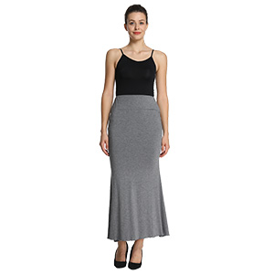 iLoveSIA Women's High Waist Comfortable Carlo Maxi Skirt Back picture