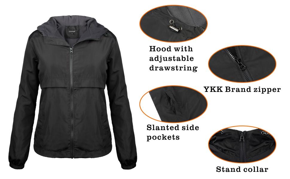 iLoveSIA womens rain jacket fleece lined