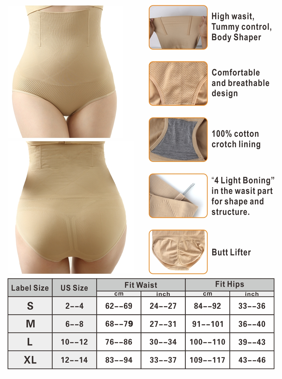 iLoveSIA High Waist C-Section Recovery Slimming Underwear Tummy Control Panties