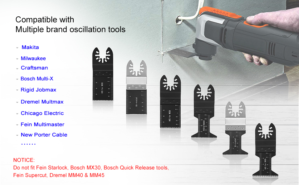 10 Pro Oscillating MultiTool Saw For Blade Milwaukee Ridgid Ryobi Chicago Jobmax