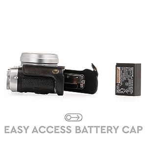 Black Color : Coffee MEETBM ZIMO,1//4 inch Thread PU Leather Camera Half Case Base for FUJIFILM X100F