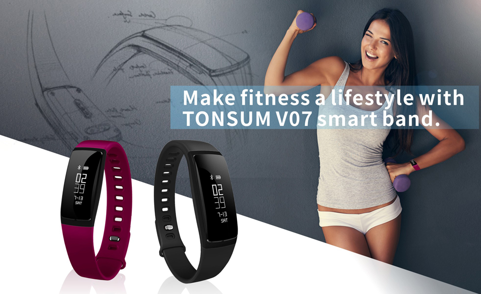 Mua TONSUM Fitness Tracker, Heart Rate Monitor Sports Blood