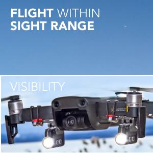 Flight within sight range - Visibility
