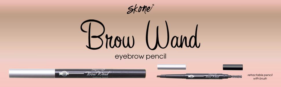 Eyebrow Wand from Skone Cosmetics - Brown eyebrow pencil black eyebrow pencil brown eye brow brush