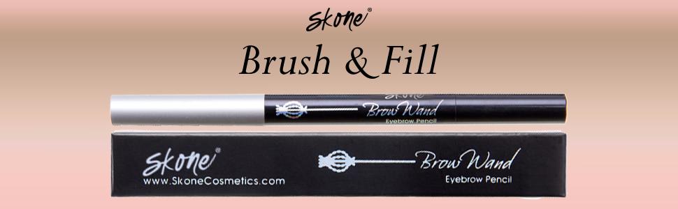 Skone Cosmetics Liquid eyeliner insanely intense eyebrow pencil browwand brown eyebrow wand eye brow