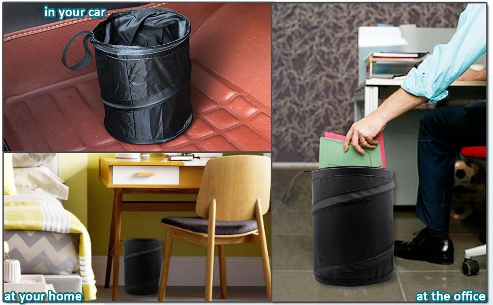 Zento Deals Portable Traveling Trash Can Leak proof