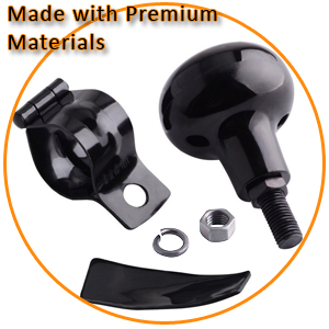 Zento Deals Classic Black Universal Fit Vehicle Steering Wheel Suicide Spinner Quality Power Handles