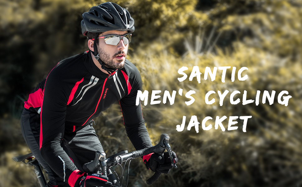 547878ae6 Amazon.com   Santic Mens Cycling Jackets Winter Inner Fleece ...