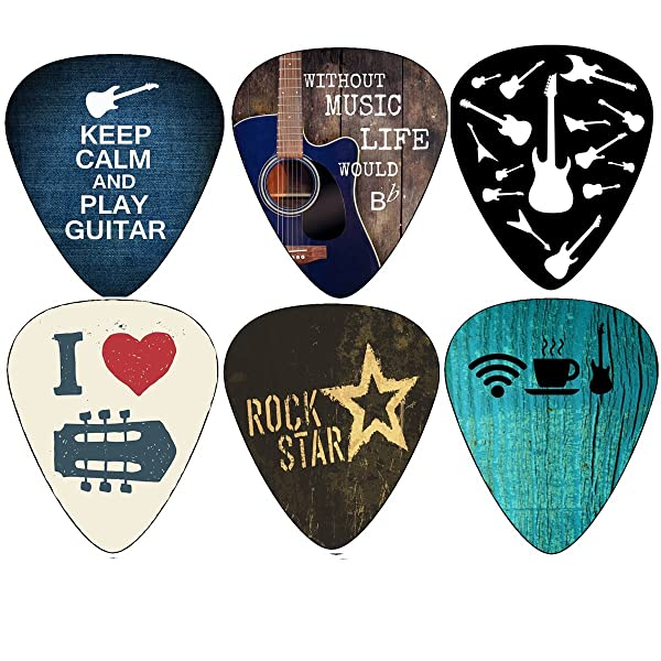 creanoso cool guitar picks 12 pack free leather pick holder celluloid