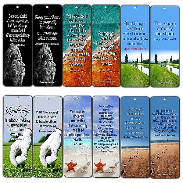 b0281b977488b Creanoso Inspirational Leadership Quotes Bookmarks (60-Pack) - Finding  Inspiration thru Leadership