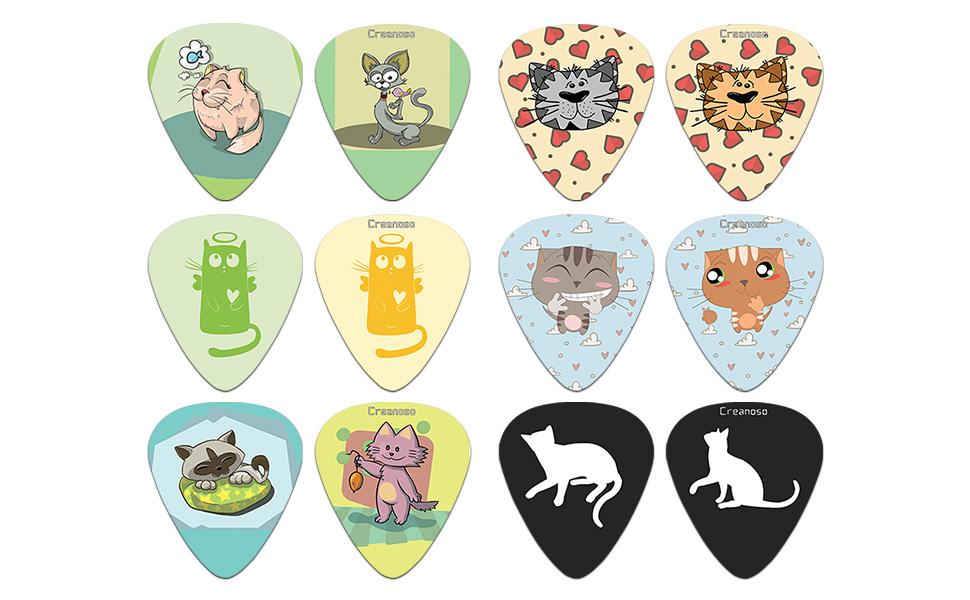 cat guitar picks finger style