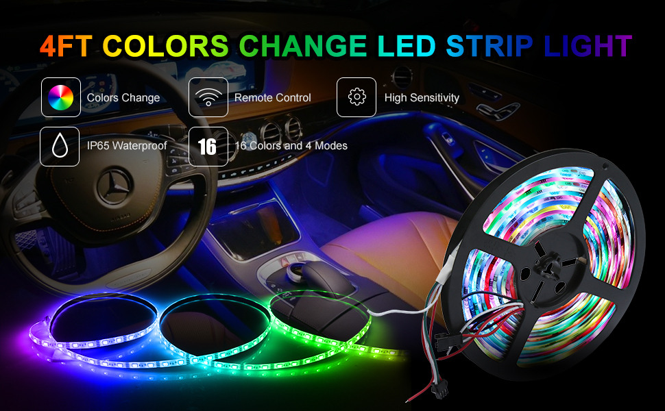 Color Changing Led Light Strips Delectable Amazon SDlife Flexible LED Light Strip Waterproof Flicker