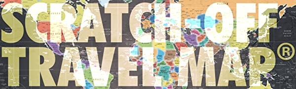 Scratch off world map for traveling
