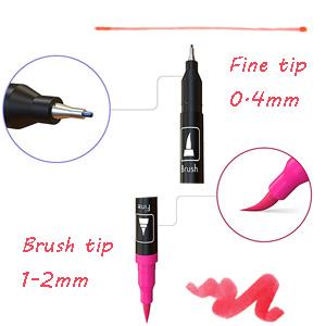 tombow pen, dual tip brush pens, dual tip pens, dual brush markers, art supply, dual tip markers
