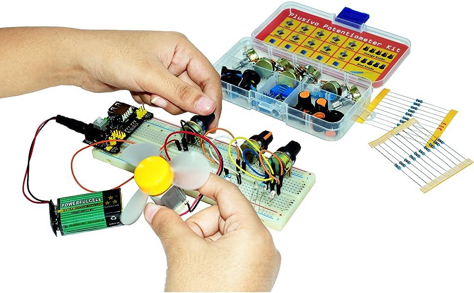 Knob-Type microcontroller resistive pot volume balance best for arduino rotary encoder rotating knob