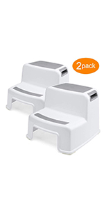 Dual Step Stool for Kids, Toddler Step Stool in Bathroom, Kitchen,Bathroom Stool for Potty Trainin