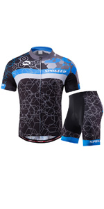 Amazon.com : Cycling Jersey Short Sleeve Men MTB Bike ...
