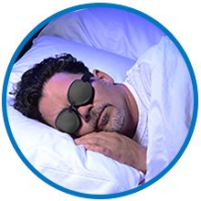 sleeping with tranquileyes sleep mask for dry eyes