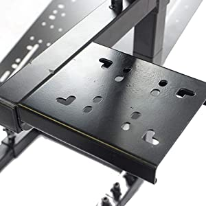 GTR Simulator GTAF-BLK-S105LWHTRD - GTA-F Model (Black) Triple or Single Monitor Stand with White