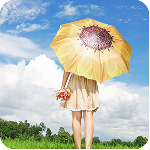 funny happy interesting fashionable travel sunny summer spring umbrella