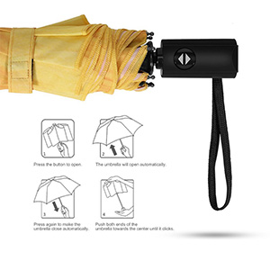 Auto Open Close foldable portable lightweight Wedding Gifts umbrella