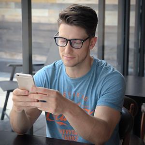 0ca919a72455f Amazon.com  Cyxus Blue Light Blocking  Lightweight TR90  Glasses for ...