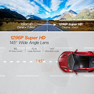 G-Sensor THiEYE Safeel One 1296P Full HD Video Car Dashboard Camera Recorder with 1.5 TFT LCD Screen Loop Recording Motion Detection Parking Monitor FSFONEBEN Dash Cam with Superior Night Vision HDR