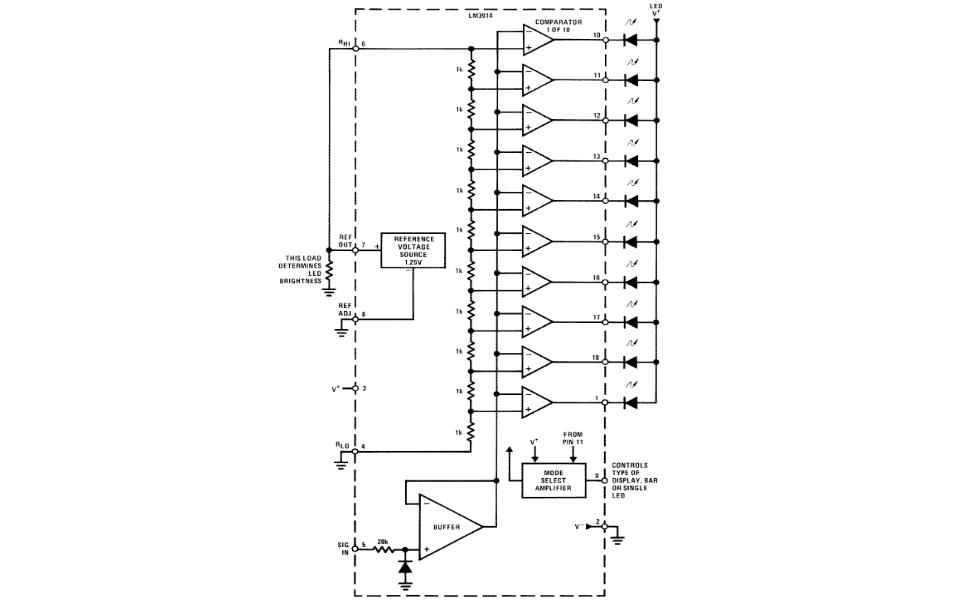 lm3914 led vu meter circuit