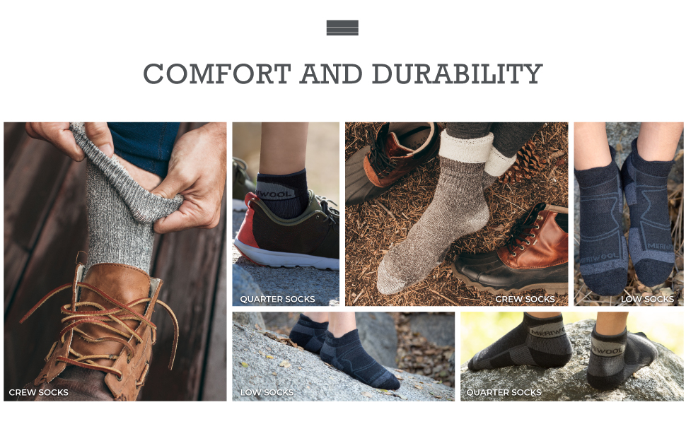 meriwool socks offer you comfort and durability with moisture absorption for all day protection