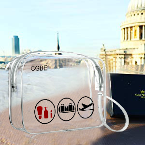 clear travel toiletry bag