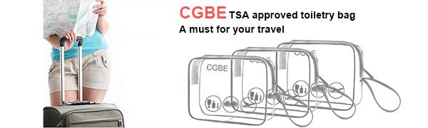 Amazon.com: 3 bolsas de aseo con asa aprobadas por CGBE TSA ...