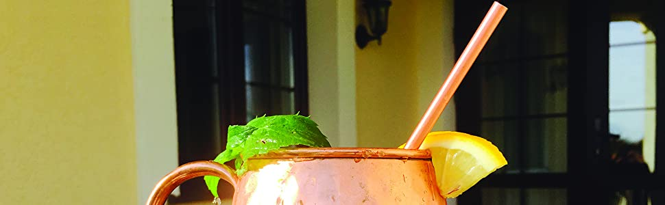 moscow mule copper drinking straws pure solid