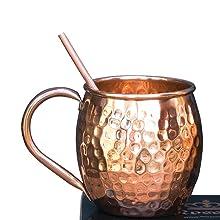 moscow mule copper mug straws