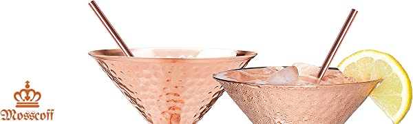 copper straws moscow mule straws copper drinking straws reusable pure copper laquered Mosscoff