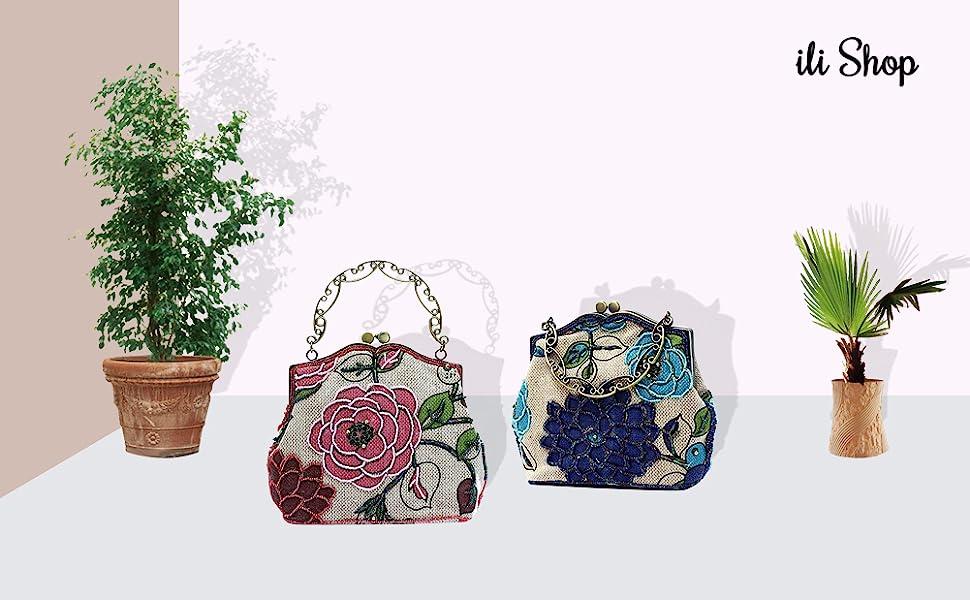 summer clutch day Gift for her. Handmade clutch Beaded handbags handbag with zipper Beautiful light purses spring Vintage Evening